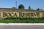 Boca Reserve community sign